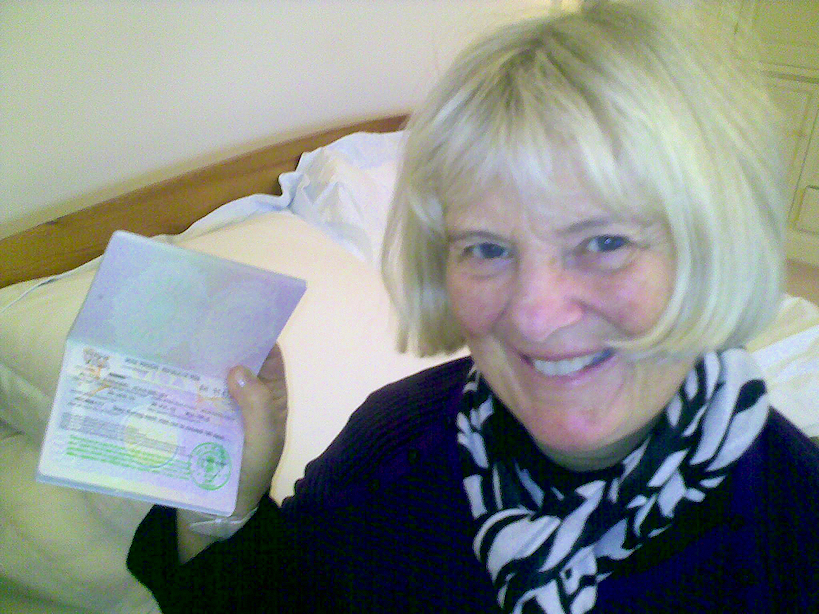 Annabel with her visa