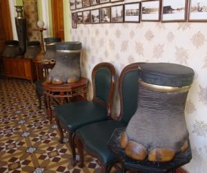 Elephant-foot stools, Bangalore Palace
