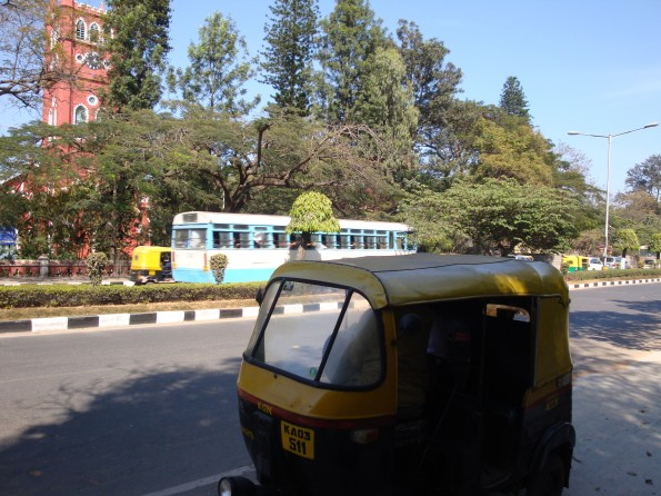 Our auto rickshaw (with Annabel inside, though you can't see her!)