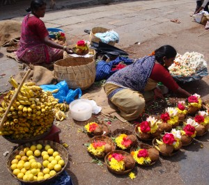 Selling Offerings, Chamundi temple
