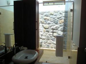 Bathroom - shower has a transparent roof