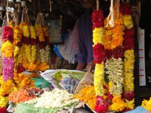 Flower stall, Munnar market