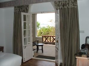 View through our bedroom door