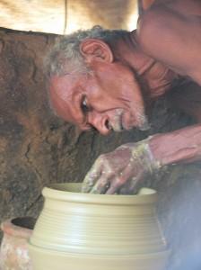Potter at work, Palakkad