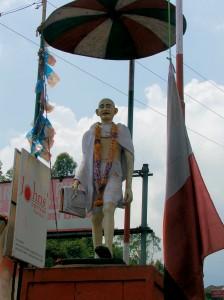 Statue commemorating Mahatma Gandhi, Munnar